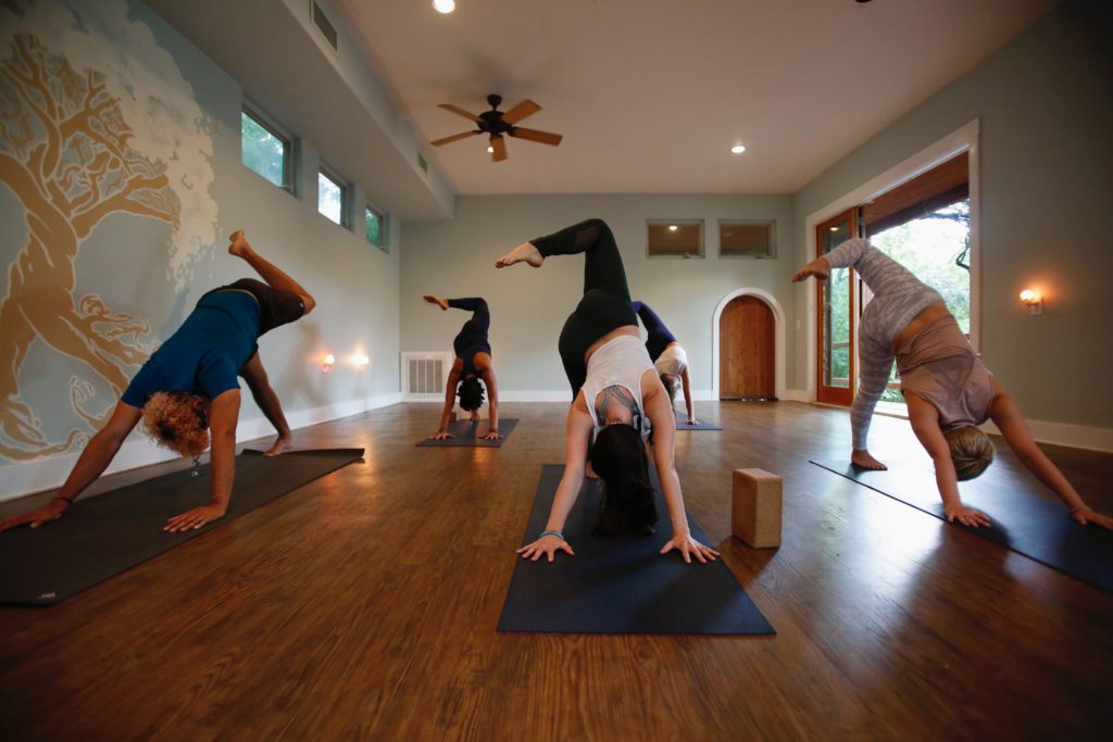 Yoga class at Sanctuary